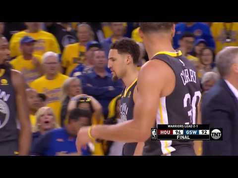 Thrilling Ending - Game 4 - Rockets vs Warriors   May 22, 2018   2018 NBA West Finals