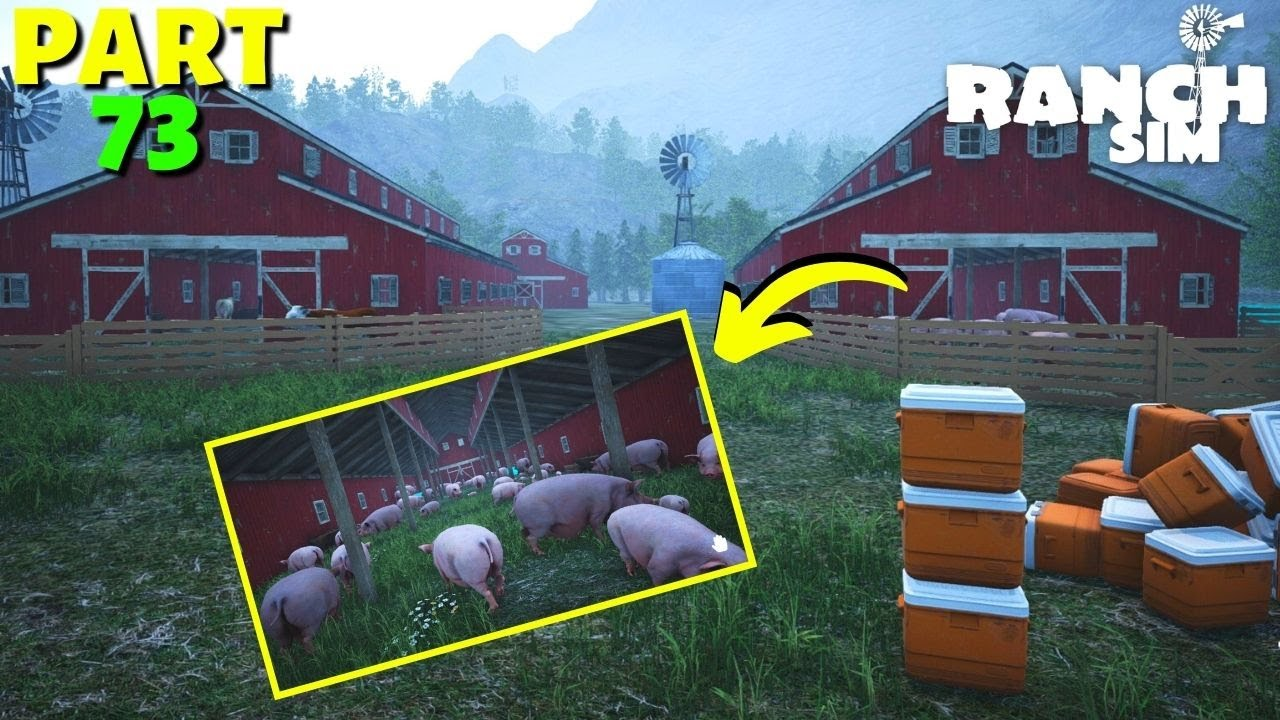 Now We Have 9 Barn House With More Than 200 Pigs - Ranch Simulator - PART 73 (HINDI) 2021