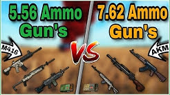 Which Gun's Are Best 5.56 Ammo Or 7.62 Ammo Gun's | Don't Get Shocked! Full Comparison | PUBG MOBILE