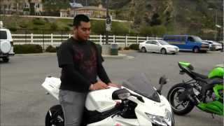 My First Time Riding Suzuki GSX-R750 Customized SportBike Motorcycle Review First Impression GIXXER