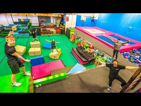 OVERNIGHT AT SUPER TRAMPOLINE PARK! (Doing really dumb stuff)