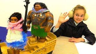 Моана и Мауи в ледяной стране - Мультики для детей