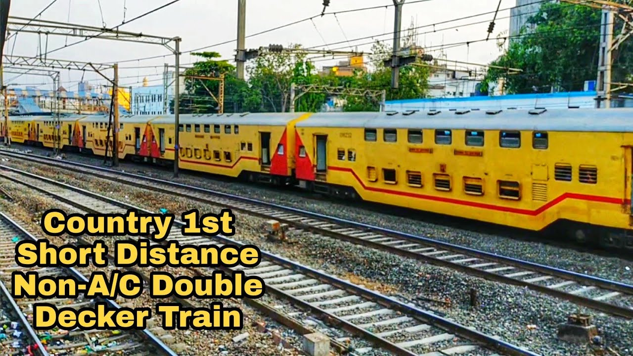Country 1st Short Distance Non-A/C Double Decker Express Special Train From Mumbai To Valsad.