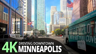Minneapolis 4K60fps - Driving Downtown - Minnesota, USA