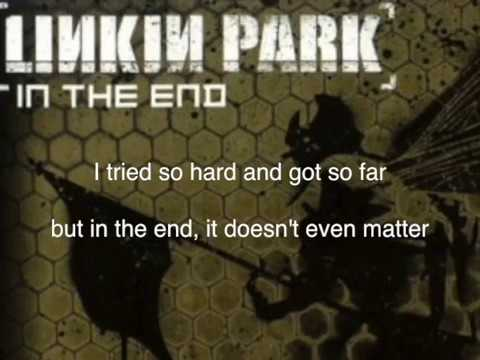 In the End Karaoke Rap Part [With lyrics]