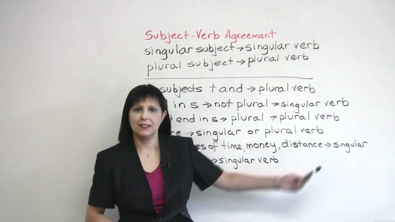 Singular Or Plural Subject Verb Agreement In English Grammar Youtube