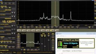 Voice of Nigeria DRM 15120 kHz rcvd in NJ USA.