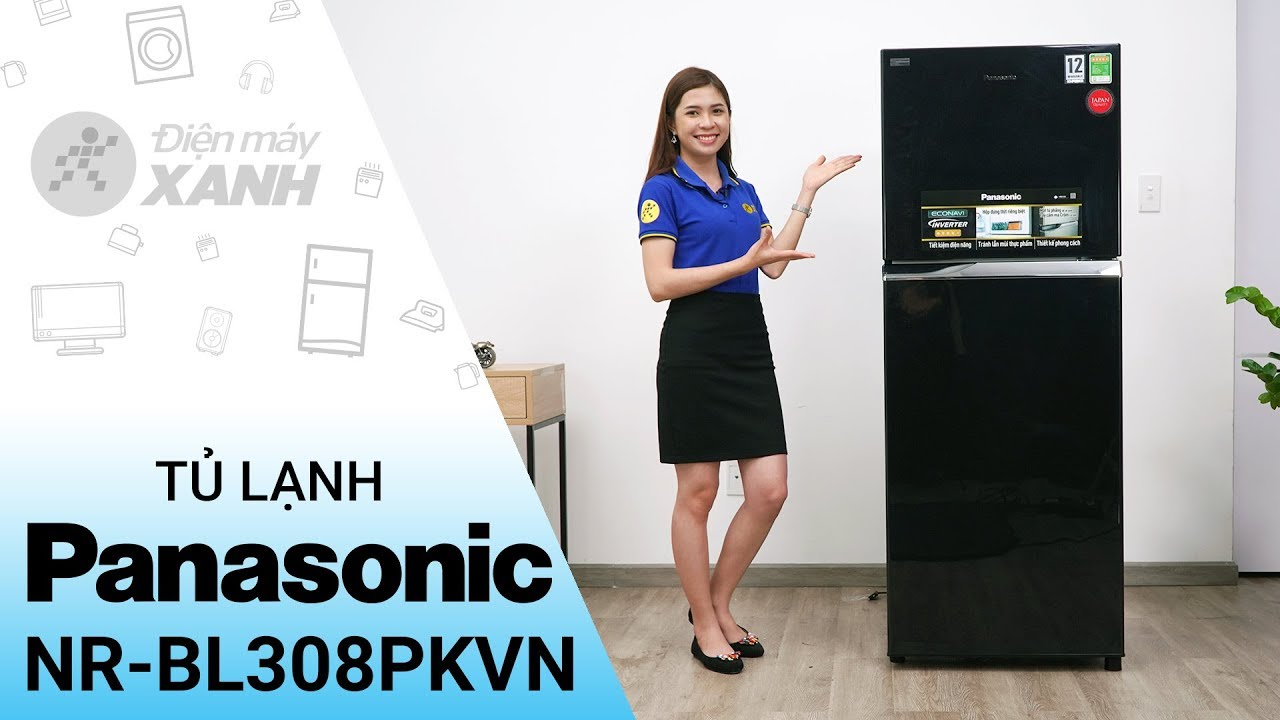 Tủ lạnh Panasonic inverter 267 lít NR-BL308PKVN – Đen huyền mạnh mẽ | Điện máy XANH
