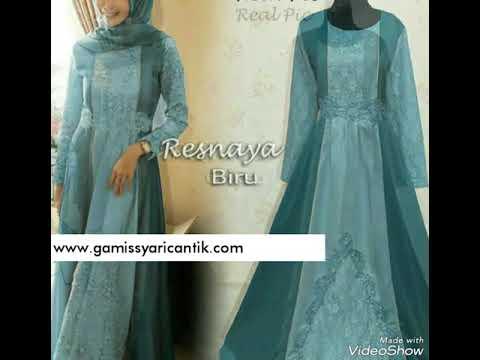 Model Baju Gamis Pesta Pernikahan Brukat Resnaya 081213381472 Youtube