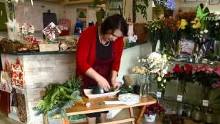 Kwiaciarnia Lavender - Zielonka - Stroik Świąteczny - dobra kwiaciarnia. Stroiki Bożonarodzeniowe.