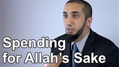 Giving for Allah's Sake - Nouman Ali Khan - Quran Weekly