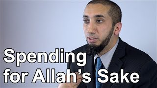 Giving for Allah's Sake - Nouman Ali Khan - Quran Weekly
