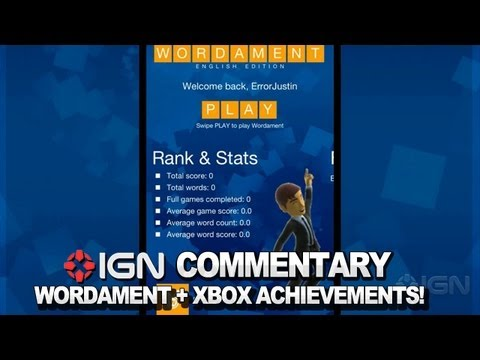 IGN Plays Wordament With Xbox Achievements!