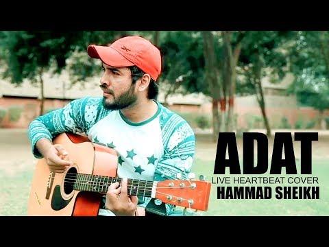 Atif Aslam   Aadat   Heartbeat guitar Cover by Hammad Sheikh