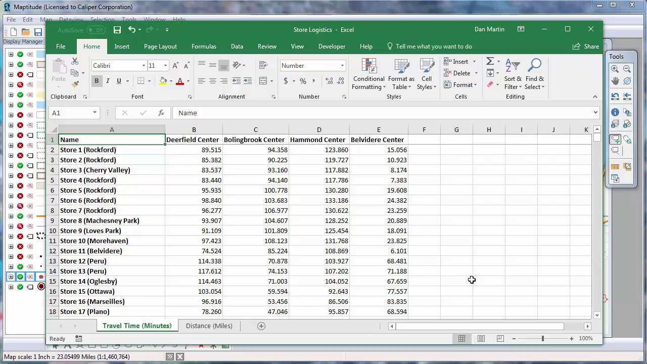 Custom-developed distance calculator software   download.