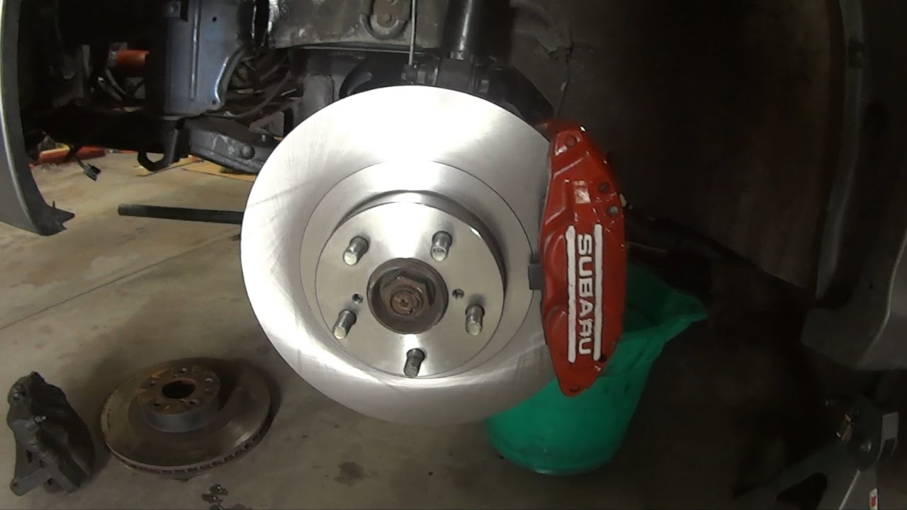 Pads For Forester Impreza Legacy Front Red Brake Calipers And Rotors
