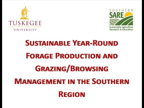Forage Production and Grazing Browsing Management