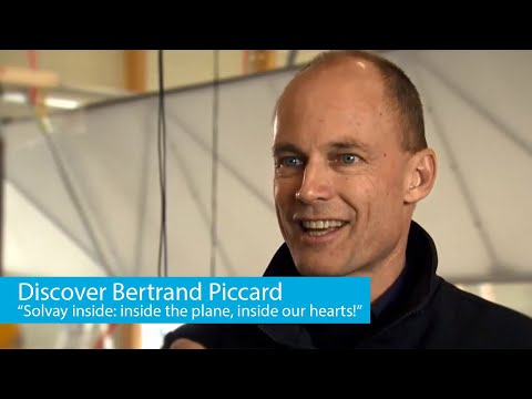 """Bertrand Piccard: """"We have Solvay inside: inside the plane, inside our hearts!"""""""