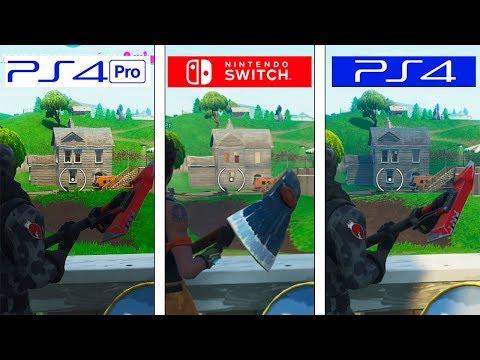 Fortnite | Switch vs PS4 vs PS4 Pro | Graphics Comparison | Comparativa