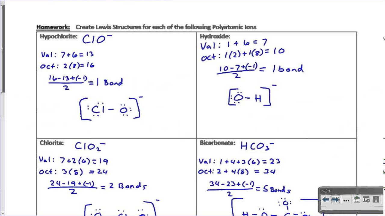 Lewis structures for polyatomic ions youtube lewis structures for polyatomic ions pooptronica Images