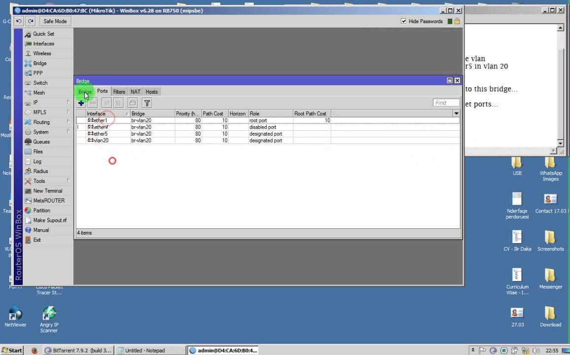 Configure Mikrotik with VLAN