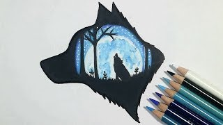 Wolf Drawing | Colored Pencil