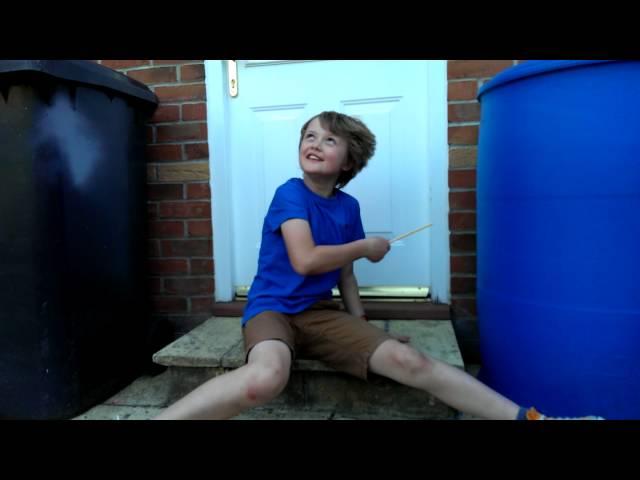 Crazy drummer kid! Chicken nuggets!?!