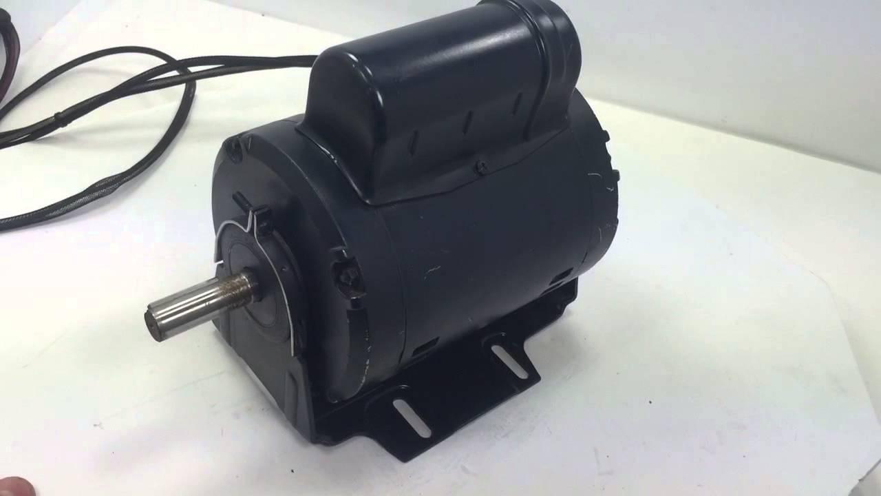 Leeson FHP Electric motor M4P17DJ22 YouTube – Leeson Motor Wiring Diagram