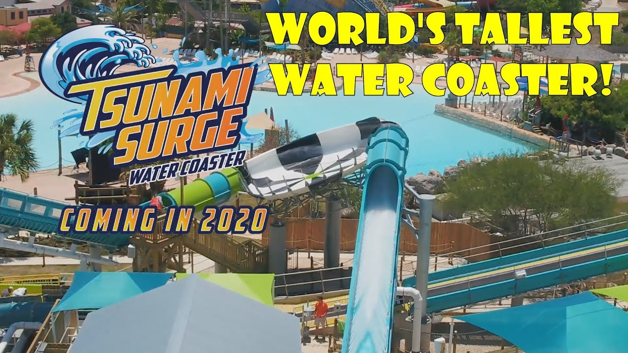 Tsunami Surge New For 2020 Water Coaster At Six Flags Great Americas Hurricane Harbor