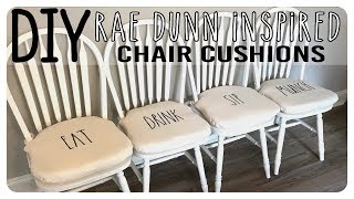 Diy   Rae Dunn Inspired Chair Cushions