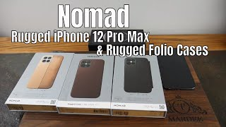 Nomad's iPhone 12 Pro Max Horween Leather Cases