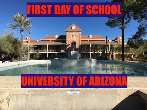 First Day of School At The University of Arizona