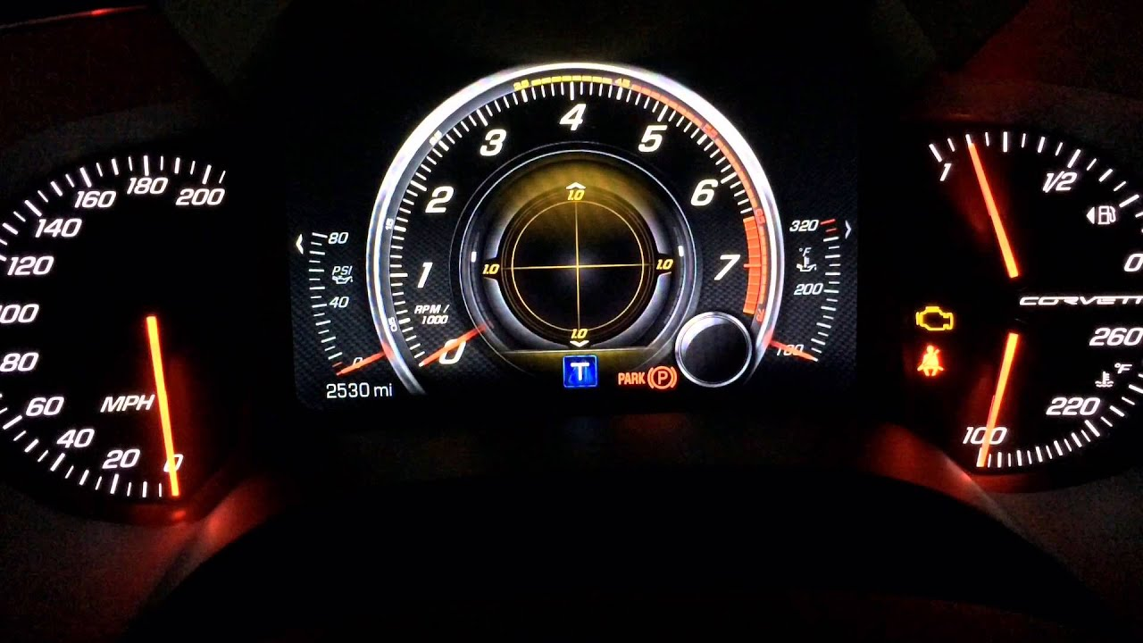 Awesome Configurable Dash Display Options C7 Corvette