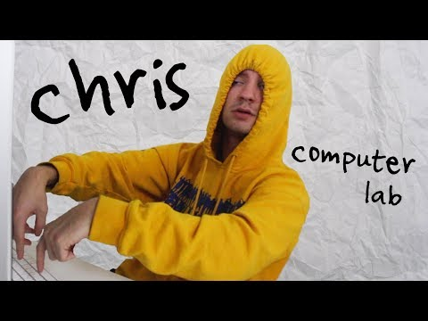 Chris in the Computer Lab