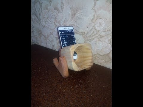 Wooden Turbo Prop Engine Speaker Sound Amplifier Stand Dock for SmartPhone
