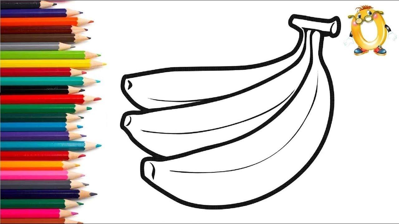 Раскраска для детей БАНАНЫ. Мультик - Раскраска. Учим ...