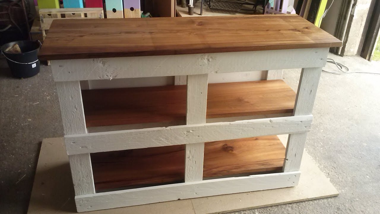 Pallet kitchen furniture meuble de cuisine en palette youtube - Meuble cuisine en palette ...