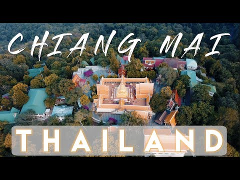 The BEST view of Chiang Mai from Doi Suthep temple | Thailan