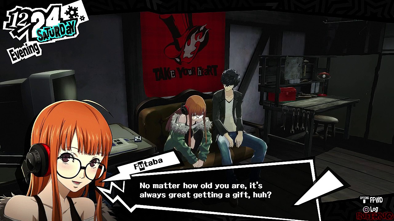 Persona 5 - English Version - Futaba Christmas Eve Event - YouTube