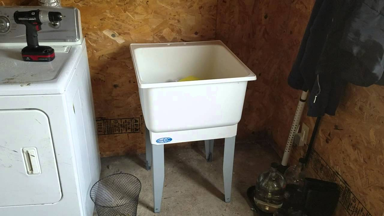Merveilleux Plan To Install A Utility Sink