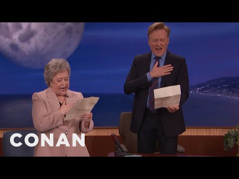 Kathy Bates & Conan Sing The Star Spangled Banner In Baltimore Accents  - CONAN on TBS
