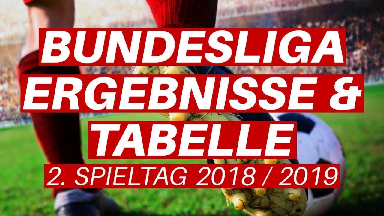 Bundesliga Tabellenstand Ergebnisse Und Statistiken Zum 2 Spieltag 2018 2019 Youtube