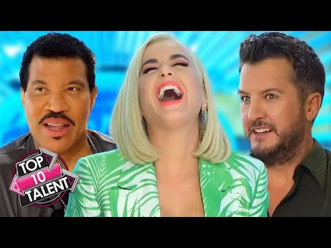 TOP 10 FUNNIEST Auditions And Moments On American Idol 2020!