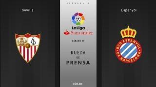 Rueda de prensa Sevilla vs Espanyol