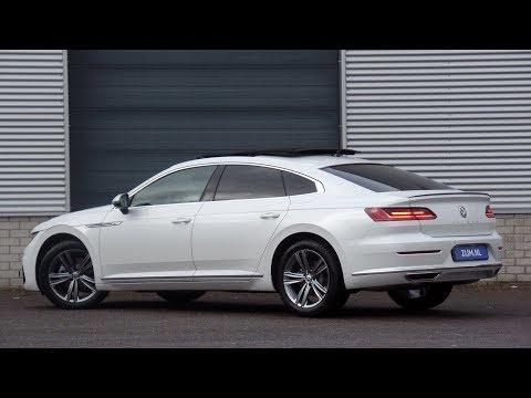Volkswagen NEW Arteon R-line 2019 Oryx White Pearl 18 inch Sebring Walk around & detail inside Mp3