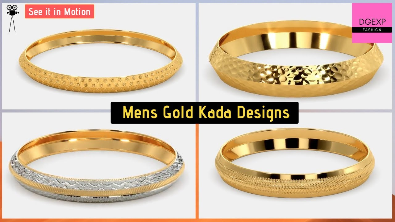 3835215c24d Gold Kada Designs For Men With Price & Weight | Kada for Man - YouTube