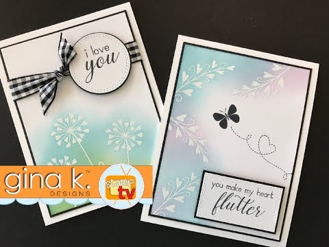 Gina K  Designs & Unity Stamp Company - Heart Flutter