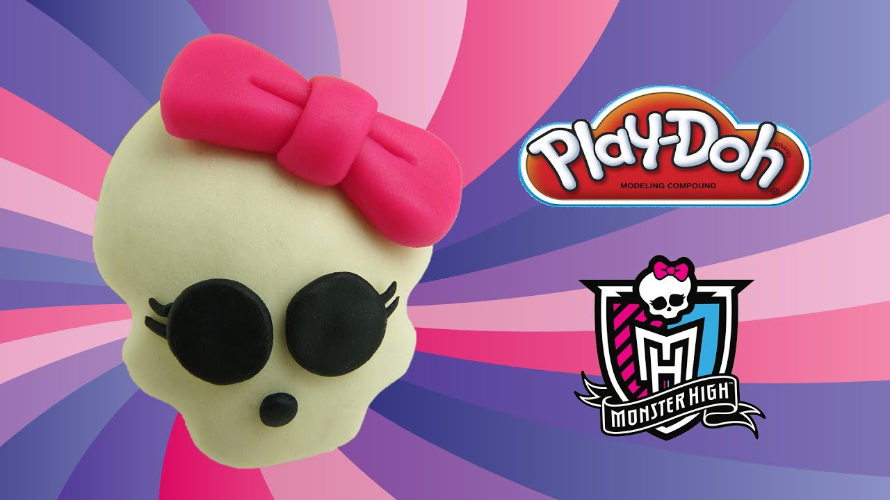 Play doh monster high skullette how to make with playdoh youtube biocorpaavc
