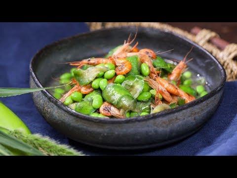茄子毛豆烧河虾,水煮也能鲜美好吃!