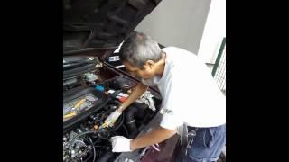 changement de calorstat sur moteur 405 peugeot moteur XUD turbo D 1992